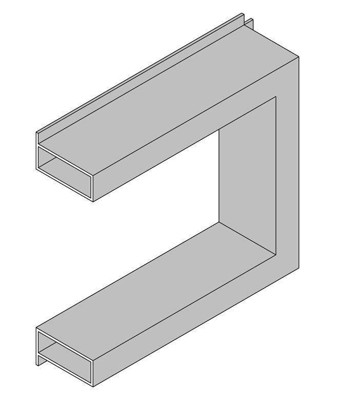 Aluminium Hollow Section Window Shroud