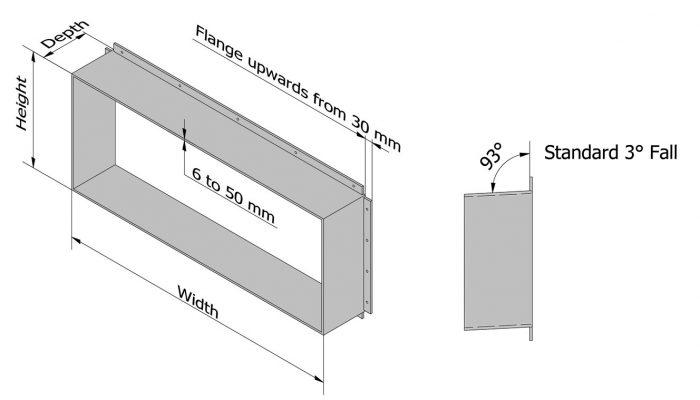 Aluminium Window Shroud Dimensions