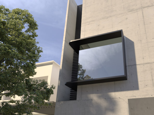 round corner window shroud
